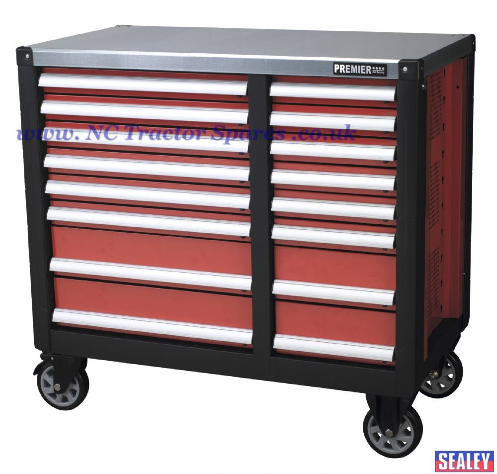 Mobile Workstation 16 Drawer with Ball Bearing Runners